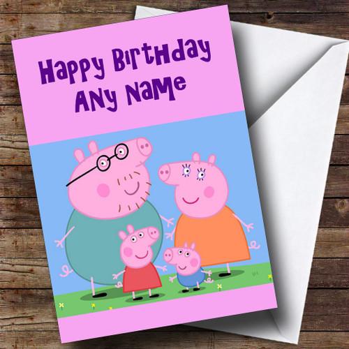 Pink Peppa Pig Personalised Birthday Card The Card Zoo