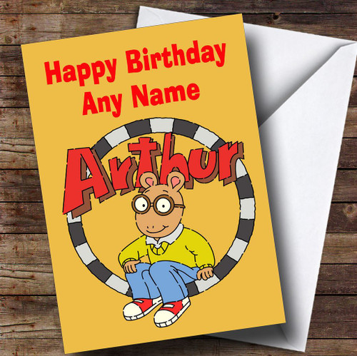 Arnold schwarzenegger personalised birthday card the card zoo arthur yellow personalised childrens birthday card bookmarktalkfo Image collections