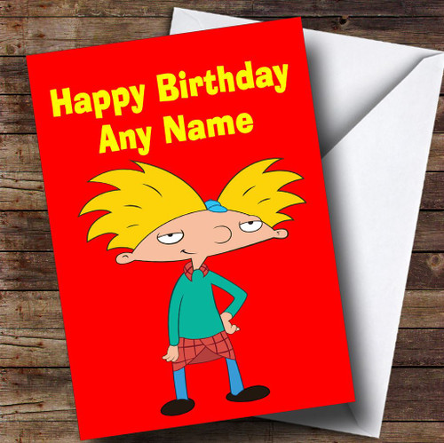 Arnold schwarzenegger personalised birthday card the card zoo hey arnold red personalised childrens birthday card bookmarktalkfo Image collections