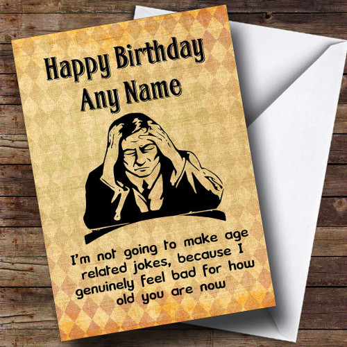 Funny Rude Joke Incontinent Personalised Birthday Card The Card Zoo