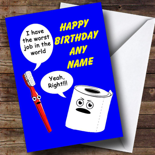 Personalised Cards Birthday Cards Funny Spoof Birthday Cards