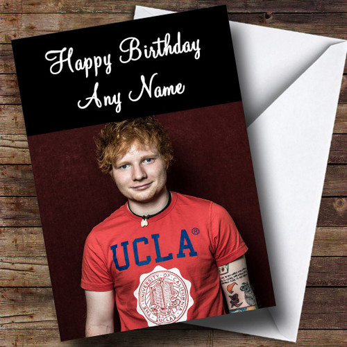 Ed Sheeran Personalised Birthday Card