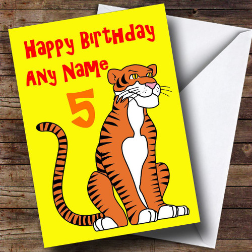 Tiger Cub Personalised Birthday Card The Card Zoo