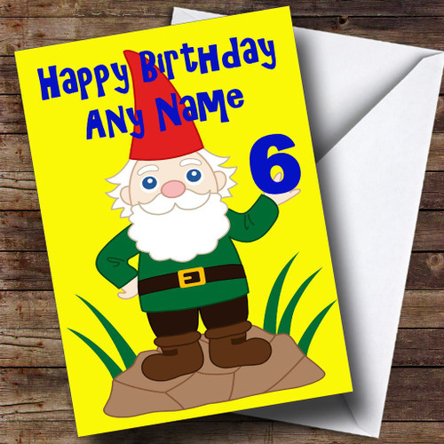 Garden gnome personalised birthday card the card zoo funny gnome personalised birthday card bookmarktalkfo Image collections