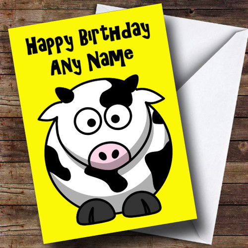 Cow cartoon funny personalised birthday card the card zoo cartoon cow personalised birthday card bookmarktalkfo Images