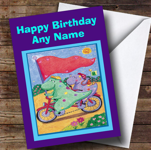 Cute Dinosaurs Personalised Childrens Birthday Card The Card Zoo