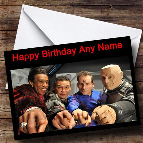 Red Dwarf Personalised Birthday Card