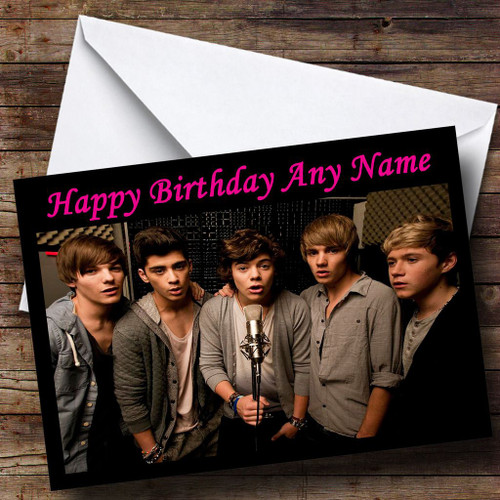 One Direction Harry Styles Personalised Birthday Card The Card Zoo