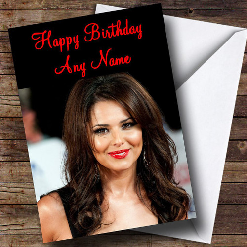 Cheryl cole smiling personalised birthday card the card zoo cheryl cole red lipstick personalised birthday card bookmarktalkfo Images
