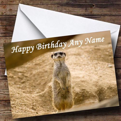 Meerkat Personalised Birthday Card The Card Zoo