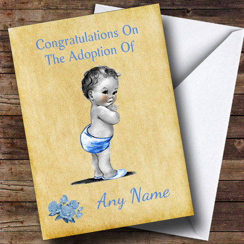 Personalised cards new baby cards page 6 the card zoo adoption vintage congratulations adopting a boy son personalised card m4hsunfo