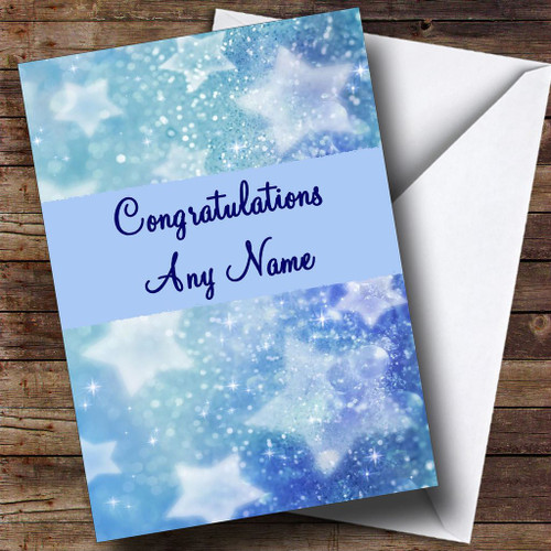 Crystal Stars Personalised Congratulations Card
