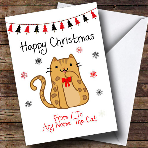 Bichon frise from or to the dog pet personalised christmas card bengal from or to the cat pet personalised christmas card colourmoves