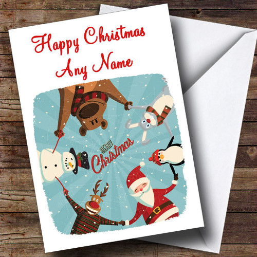 Cheryl cole smiling personalised birthday card the card zoo cheery santa christmas card personalised bookmarktalkfo Images
