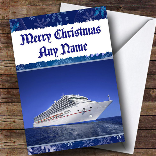 Cruise Ship Personalised Birthday Card The Card Zoo - Can you text from a cruise ship