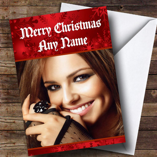 Cheryl cole smiling personalised birthday card the card zoo red cheryl cole personalised christmas card bookmarktalkfo Images