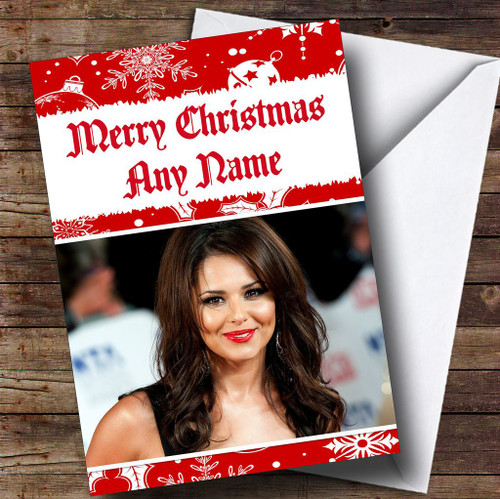 Cheryl cole smiling personalised birthday card the card zoo cheryl cole personalised christmas card bookmarktalkfo Images