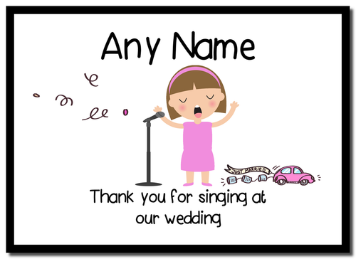 Thank You For Singing At Our Wedding Female  Personalised Mousemat
