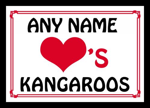 Love Heart Kangaroos Personalised Placemat