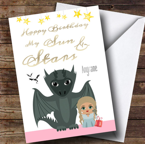 Got Daenerys Cute Game Of Thrones Birthday Personalised Card The