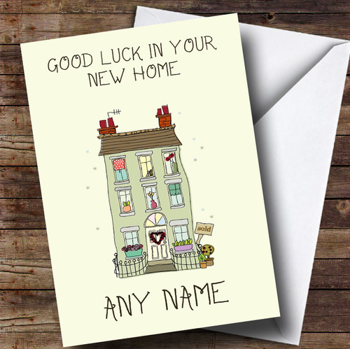 Green House New Home Personalised Card