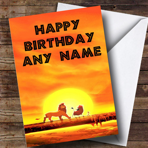 Personalised The Lion King Disney Childrens Birthday Card The