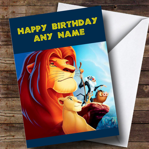 Personalised Blue The Lion King Childrens Birthday Card The Card Zoo