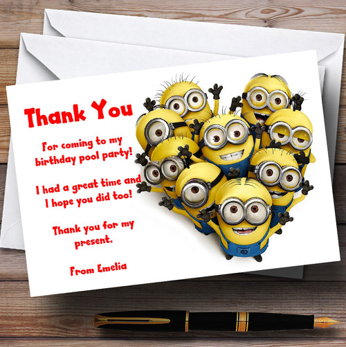 Minions Despicable Me Personalised Children S Party Invitations