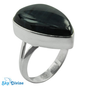 925 Sterling Silver Black Onyx Ring SDR2123 SkyDivine Jewellery RingSize 8 US