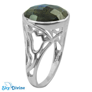 Sterling Silver Labradorite Ring SDR2144 SkyDivine Jewellery RingSize 8.5 US