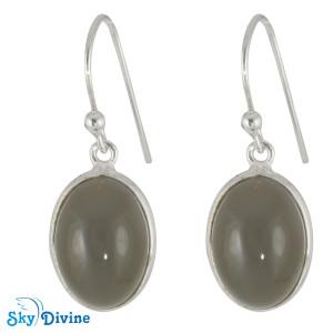 925 Sterling Silver Milky Aquamarine Earring SDER2103 SkyDivine Jewellery