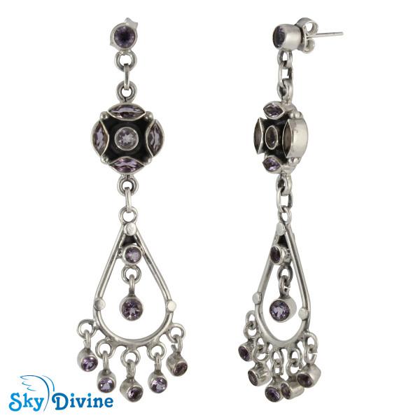 Sterling Silver amethyst Earring SDAER25c SkyDivine Jewelry Image2