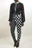 High Waist Polka Dot Pants