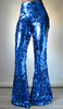 Daniela Tabois Royal Blue Sequin Wide Flare Pants