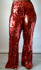 Daniela Tabois  Red Sequin Flare Pants (Front)