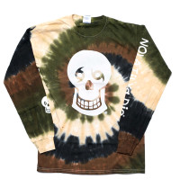 Skull/NTYD Back Long Sleeve (camo tie dye)