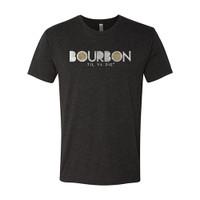 Bourbon Til Ya Die Tee (black heather)