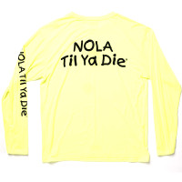Skull/NTYD Performance Long Sleeve (neon yellow)