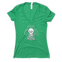 NTYD Clover Women's V-Neck (green heather)