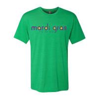 Mardi Gras Til Ya Die Tee (green heather)