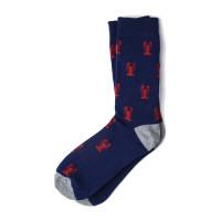 Crawfish Socks (navy)