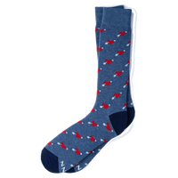 Head Over Heals Socks (blue)