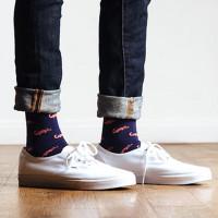 Oh Snap! Socks (Navy)