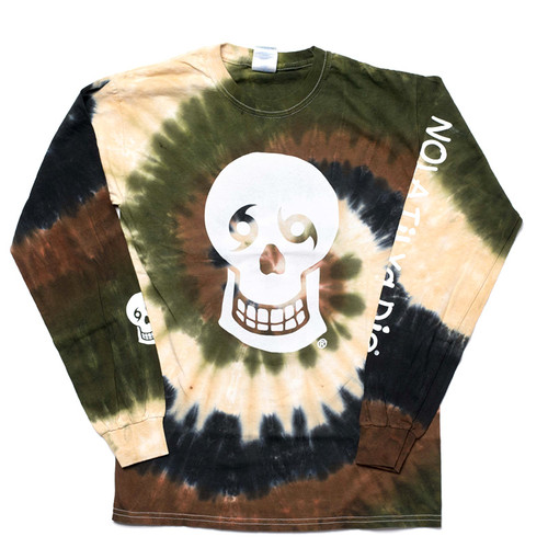 Skull/NTYD Back Long Sleeve (Camo Tie Dye)