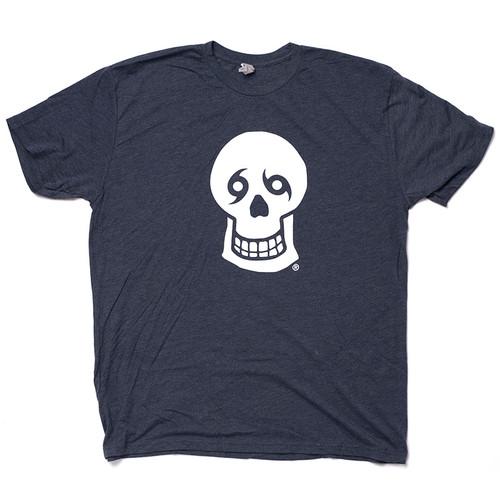 Skull/Skull Tee (Navy Heather)