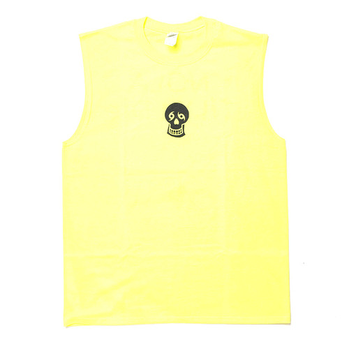Skull/NTYD Muscle Tank (neon yellow)