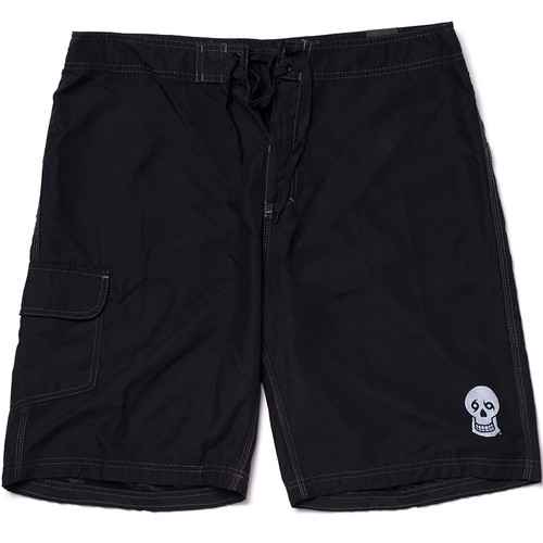 Skull/NTYD Back Board Shorts (black)
