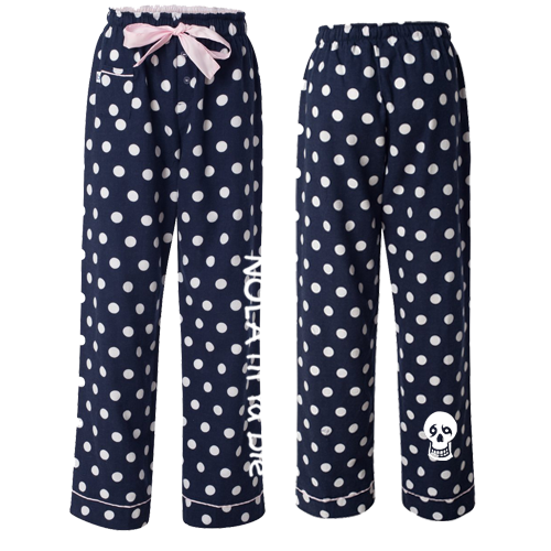 NTYD Flannel Pants (Navy Polka Dot)
