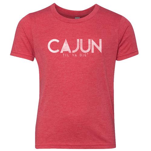 Cajun Til Ya Die Tee (red heather)