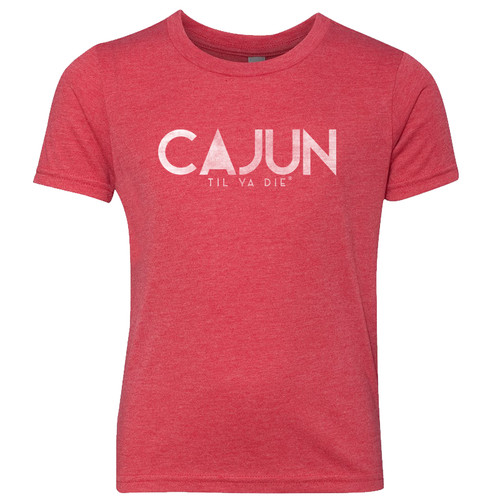 Cajun Til Ya Die Tee (red heather)